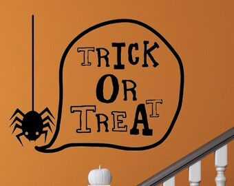 Halloween Decal - Trick or Treat Decal - Wall Decal, Car Decal, Laptop Decal - Halloween Decor