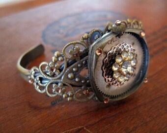 Steampunk Filigree Cuff Bracelet