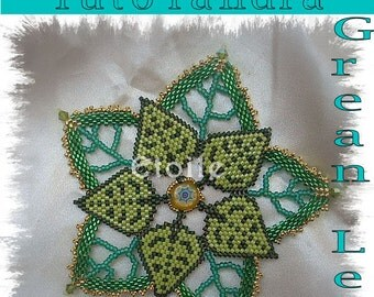 Doily Grean Leaf pattern(Italian/french/inglish/german)
