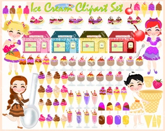 Ice Cream Clipart Set