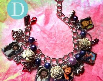 Bee Gees Barry  Robin Maurice   Gibb charm bracelet