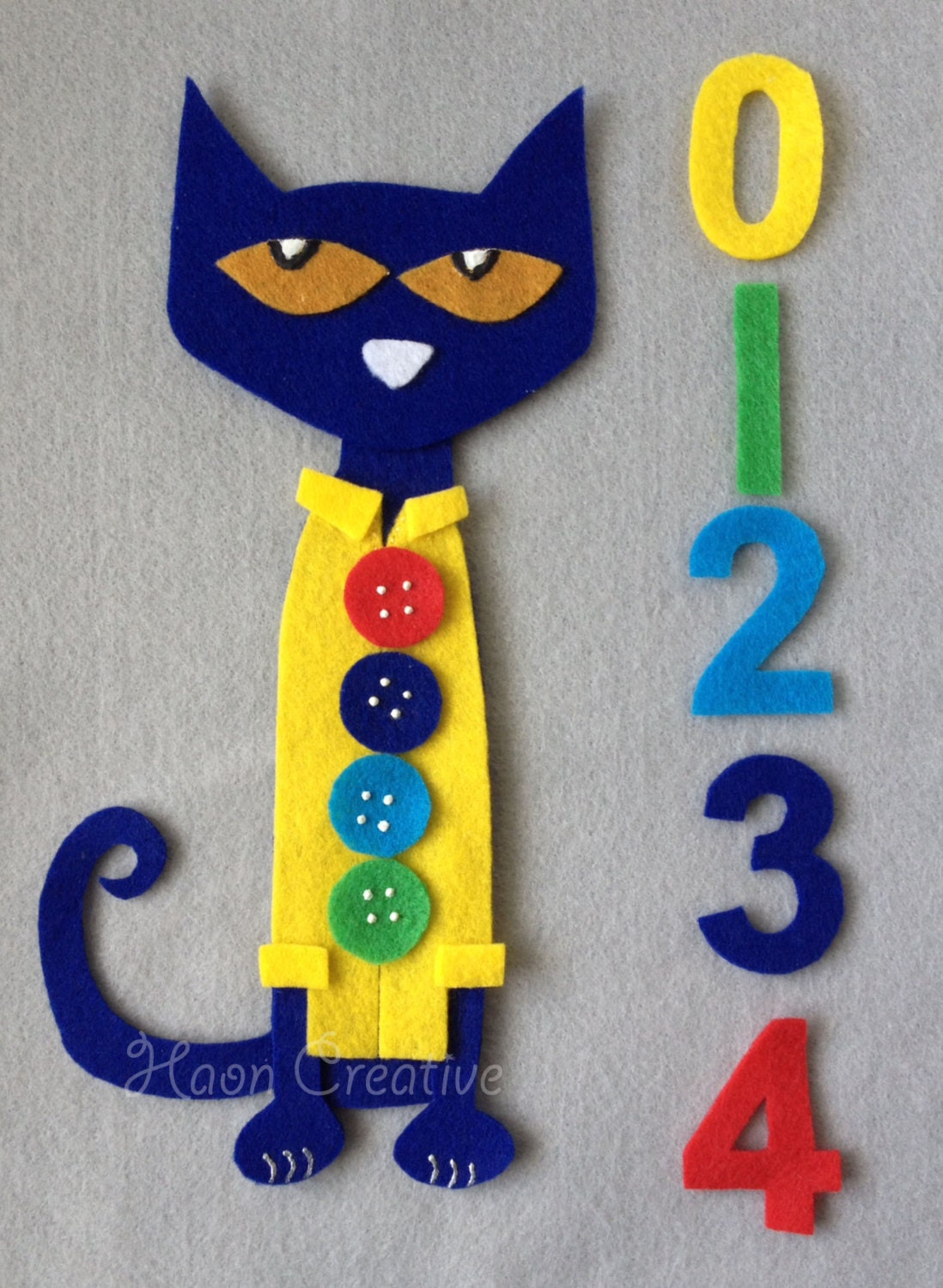Totally Groovy Modern Nails With A Mod Flair: Pete The Cat And His Four Groovy Buttons Felt By HaonCreative
