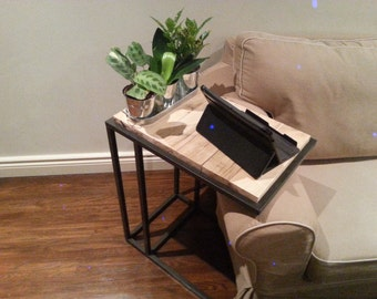 Pine Wood Laptop/Tablet Side Table