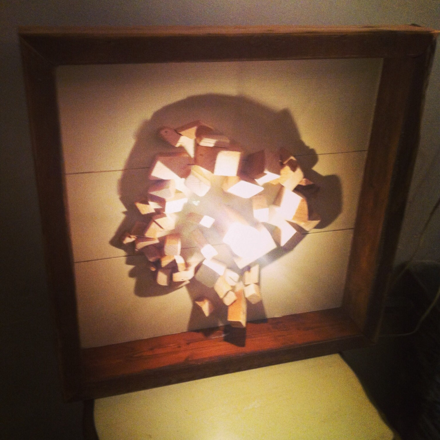 Shadow Lamps Silhouette Shadow Artwomans Facereclaimed Wood