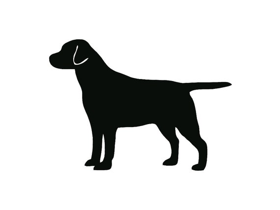 Labrador Retriever Dog Breed Silhouette Custom Die Cut Vinyl