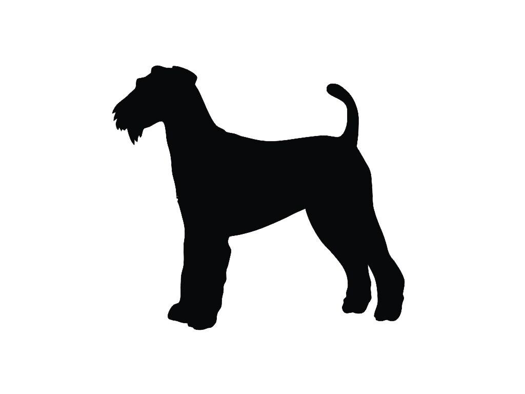 Airedale Terrier V2 Dog Silhouette Custom Die Cut Vinyl Decal