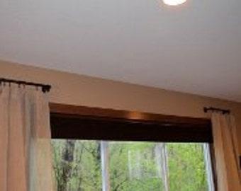 Metal curtain rod | Etsy