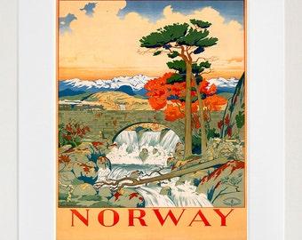 Norway Art Poster Print Norwegian Home Decor (XR175)