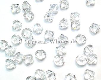 Crystal (001) Swarovski Elements 5328 / 5301 5mm Xilion Bicone Beads Clear ** FREE Shipping