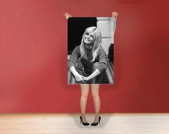 Brigitte Bardot The smile - Classic Art Print Poster Cotton Matt Canvas Wall Art - French former actress, singer and fashion model Photo