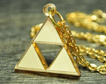 Legend of Zelda Triforce Necklace and Earring Set