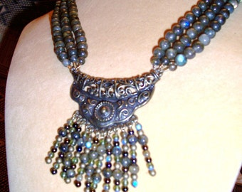 Labradorite Necklace / Earring Set