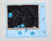 Chalkboard Name Quiet Book Page- Children's Felt Book