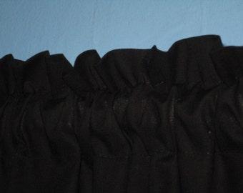 Solid Black Window Curtain Valance