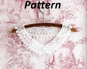 PATTERN collar crochet necklace summer peter pan