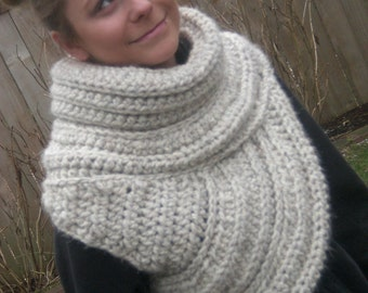 Cowl, scarf. winter wear, inspired by Katniss cowl, vest, shawl