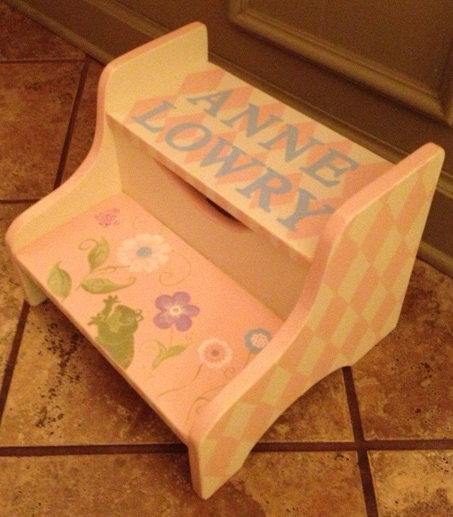 Hand Painted Step Stool Custom Children S By Paulasplayhouse