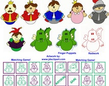 25 Roly Poly Kingdom Embroidery Design Files with Finger Puppets & Memory Matching Game