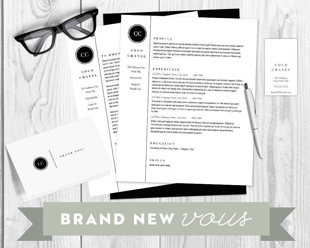 resumecover letter and business and thank you card template