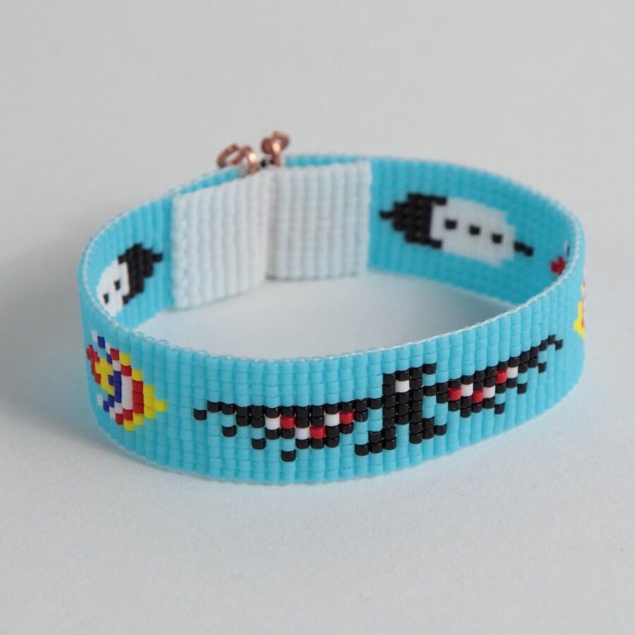 thunderbird bead loom bracelet boho bohemian tribal jewelry