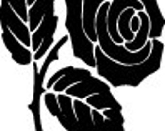 Rose Decal - Multiple Colors Available