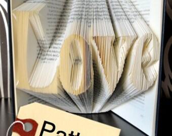 Book folding Pattern Love, English