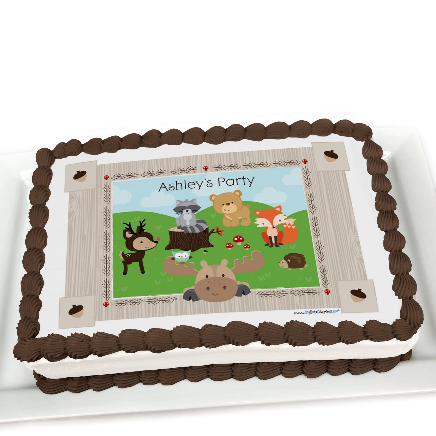 Woodland Animal Cake Toppers