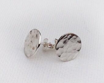 Hammered Stud Earrings