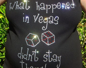 CLEARANCE - What Happened in Vegas Didn't Stay There Maternity T-Shirt - Medium