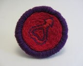 Sailor Mars Symbol Hand Embroidered Merit Badge-Style Patch