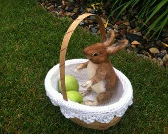 Needle felted Rabbit, Bunny, OOAK
