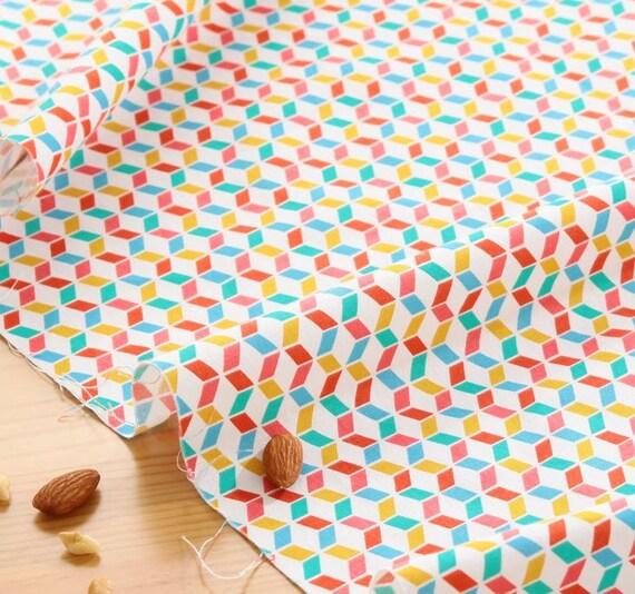 Articles similaires style scandinave cube color motif coton tissu aw08 sur - Tissu ameublement scandinave ...