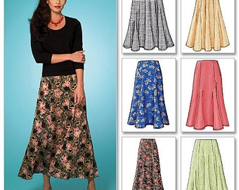 Butterick Sewing Pattern B4136 Misses'/Misses' Petite Gored Skirts
