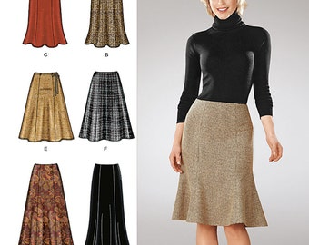 Simplicity Sewing Pattern 1560 Misses' Skirts Each in Two Lengths