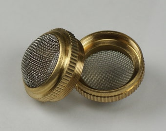 Brass basket parts holder screw type ultrasonic cleaning mesh container