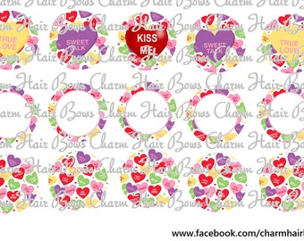 valentines days candy bottle cap images