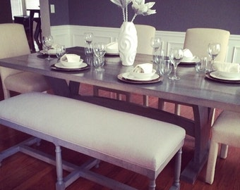 Grey Farmhouse Dining Table