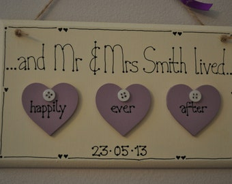 Personalised Happily Ever After sign