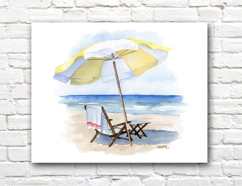 Beach chair with umbrella -  Zoom