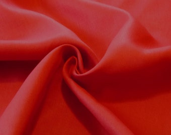 Medium-weight Red Linen fabric by the yard