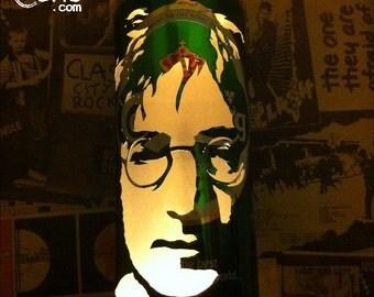 John Lennon Beer Can Lantern! The Beatles 'Imagine' Pop Art Portrait Candle Lamp