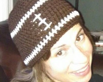 Basic Crochet Football Beanie