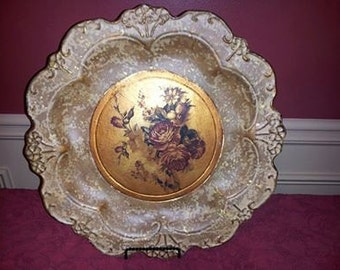 French Country Inspired Decorative Rose Plate