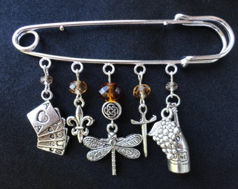 Dragonfly In Amber Inspired Kilt Pin