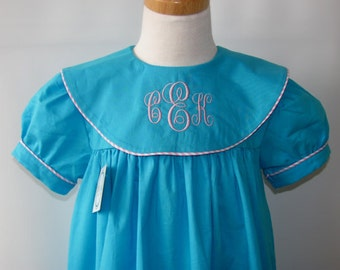Sale Baby Monogram dress, Infant monogrammed dress, baby monogrammed dress, Personalized Summer Dress, Baby Girl Clothes Free Monogram 3M