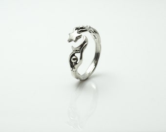 Sterling Moon Dancer Adjustable Ring  Small size 5.5-7 Large size 7.5-9