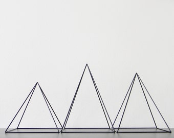 Giant Geometric Sculptures - Set of 3 Pyramids - Made to Order