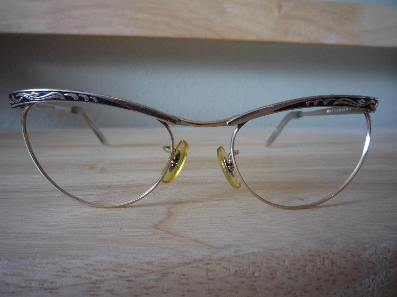 Gold Filled Eyeglass Frames : Vintage Eyeglass frame Martin Copeland metal gold filled