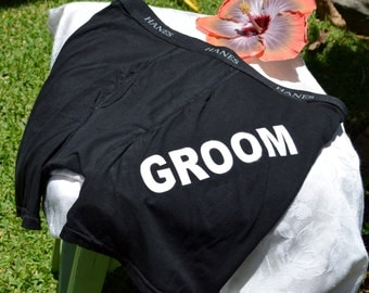 GROOM Black Boxer Briefs