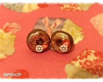 Donut Earrings with Fruit
